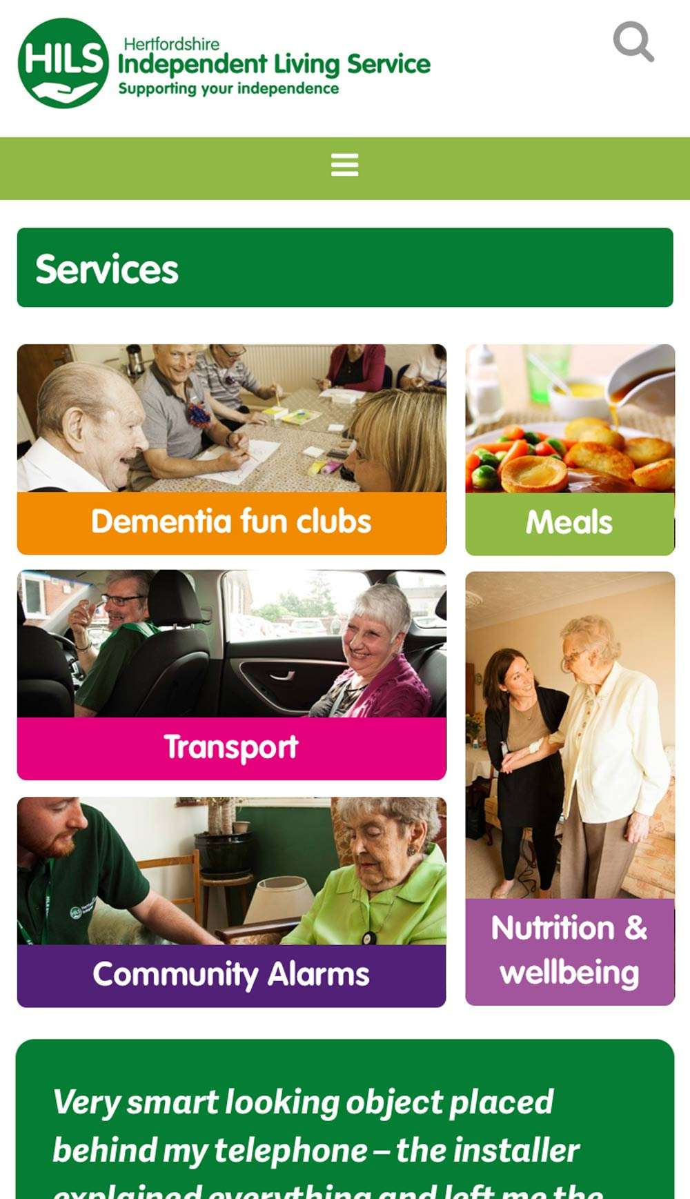 Hertfordshire Independent Living Service