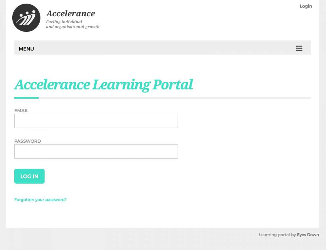 Accelerance e-Learning Portal