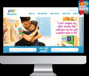Best website award for LEYF at NMT awards