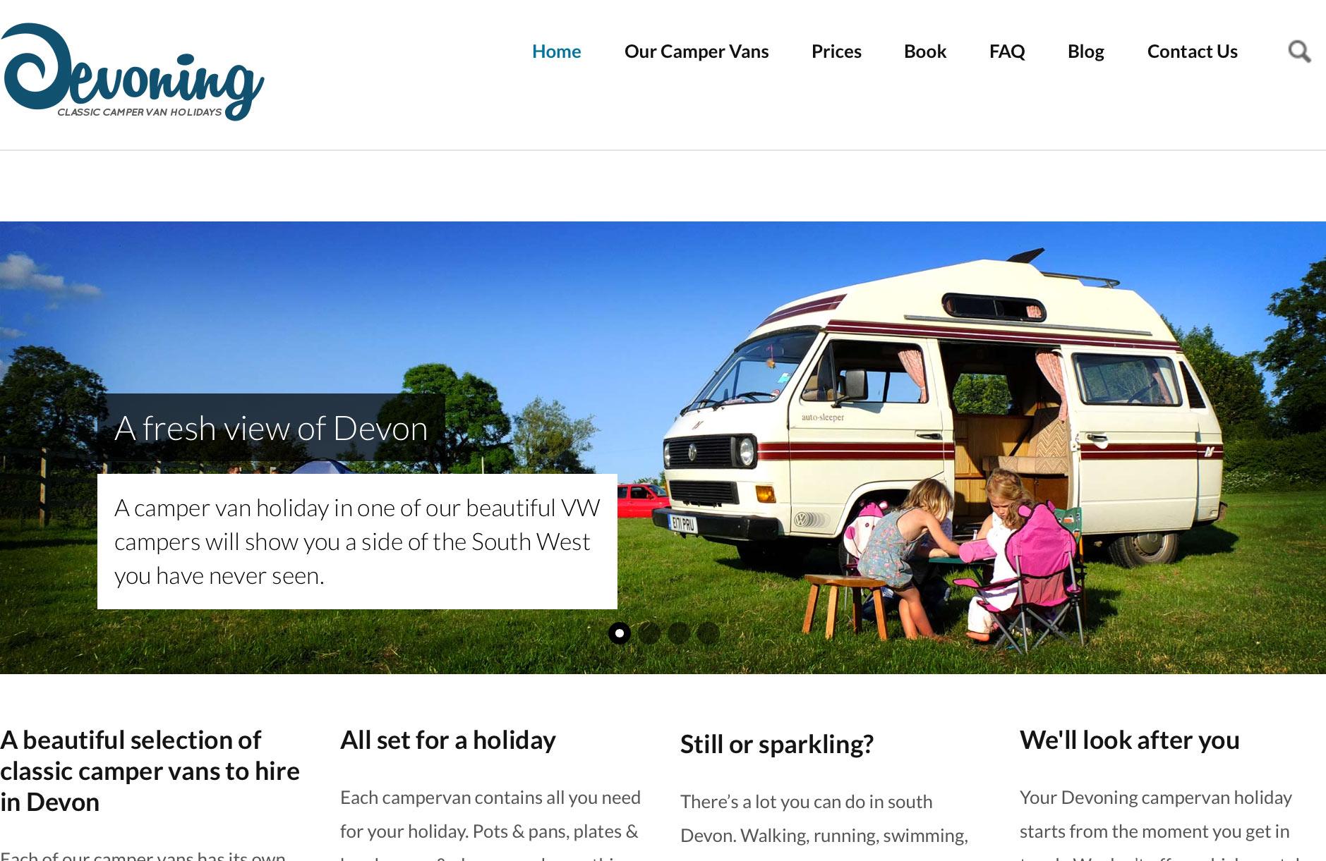 Devoning camper van hire